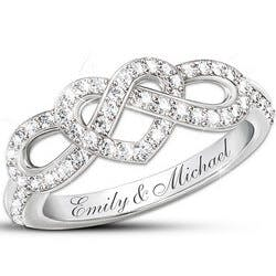 Personalized Lovers Knot Ring With 12..