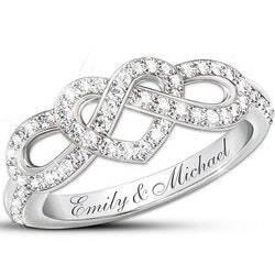 Valentines Day Gifts for Wife:Personalized Lovers Knot Ring