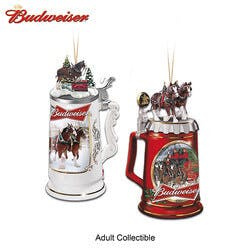 Budweiser Beer Stein Ornaments With..