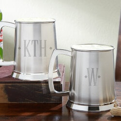 Personalized Gifts:Personalized Beer Tankard - Engraved Monogram