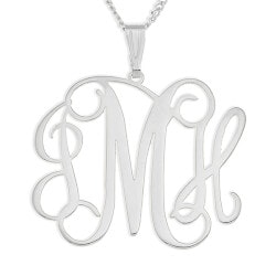 Personalized 70th Birthday Gifts:Personalized Sterling Silver Necklace -..