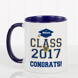 Blue Personalized Graduation Coffee Mugs -..
