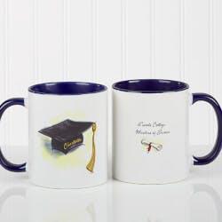Personalized Blue Graduation Coffee Mugs -..
