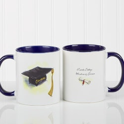 Personalized Gifts for Teenage Boys:Personalized Blue Graduation Coffee Mugs -..