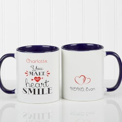 Gifts Under $10:Personalized Couples Coffee Mugs - You Make..
