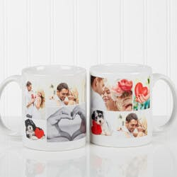 Personalized Photo Coffee Mugs - White -..