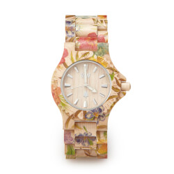 Floral Wood Watch