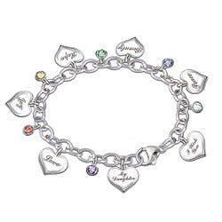 Heartfelt Wishes Charm Bracelet For Daughter