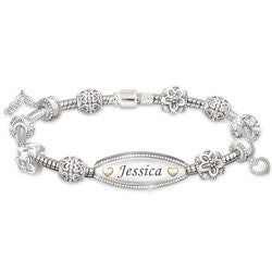 Personalized Gifts for 16 Year Old:Daughter Bracelet With 11 Charms