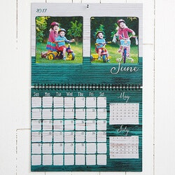 Personalized 70th Birthday Gifts:Personalized Photo Wall Calendar - Rustic -..