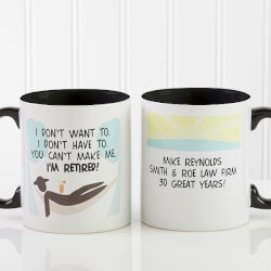 Personalized Gifts (Under $10):Im Retired Personalized Retirement Coffee..