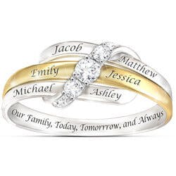 Our Family Forever Personalized White Topaz..