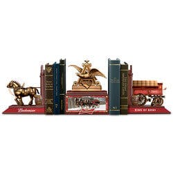 Budweiser Legacy Cold-Cast Bronze Bookends..