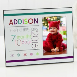 Gifts for Baby Under $50:Personalized First Christmas Picture Frames..