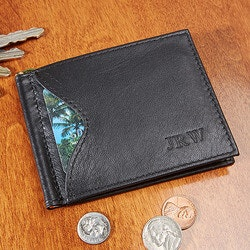 Unusual Gifts (Under $50):Personalized Mens Wallet - RFID Blocking..