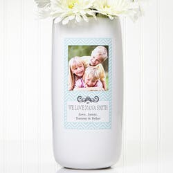 Personalized Photo Vase - Chevron Class