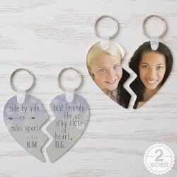 Personalized Break Apart Heart Keyring -..