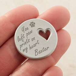 Personalized Pet Memorial Heart Pocket Token