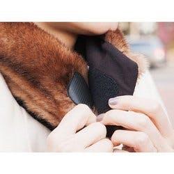 NEKZ: Faux Fur Scarf Alternative - Brown