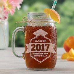 Personalized Gifts (Under $25):Class Of Personalized Graduation Glass Mason..