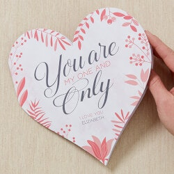 Personalized Gifts:Personalized Romantic Heart Greeting Card -..