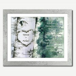 Personalized Framed Art - Forest Of Love