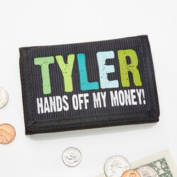 Gifts for 10 Year Old Boys:Personalized Kids Wallets - Hands Off