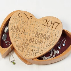 Personalized Gifts for Teenage Girls:Engraved Graduation Jewelry Box - Graduation..