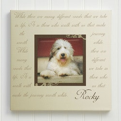 70th Birthday Gifts Under $50:Paw Prints On Our Hearts Photo Pet Memorial..