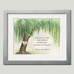 Personalized Framed Art - Willow Tree..