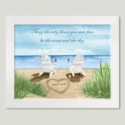 Personalized Ocean Chairs Art