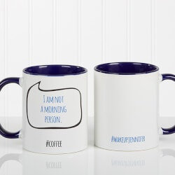 Personalized Gifts (Under $10):Personalized Social Media Coffee Mug -..