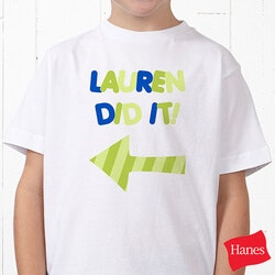 Personalized Gifts for 3 Year Old:Personalized T-Shirt For Kids - They Did It