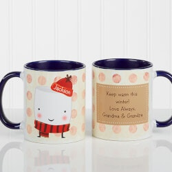 Gifts Under $10:Personalized Hot Cocoa Mugs - Marshmallows -..