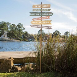 Travel Gifts:Personalized Family Member Signpost