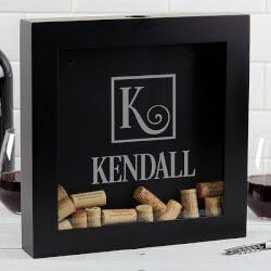Personalized Wine Cork Box