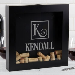 Wine Anniversary Gifts for Women:Personalized Wine Cork Box