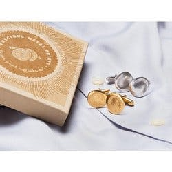 Precious Metal Prints: Fingerprint Cuff Links