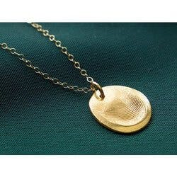 Fingerprint Pendant Necklace