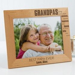 Personalized Gifts for Father In Law:Personalized 8x10 Grandpa Picture Frames -..