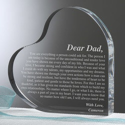 Gifts for Dad:Personalized Keepsake For Dad