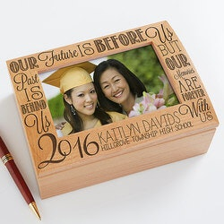 Gifts for Teenage Girls:Personalized Photo Keepsake Box - Graduation..