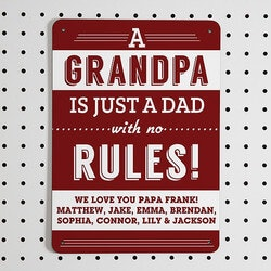 Personalized Gifts for Dad:Personalized Street Signs - Grandpas Rules