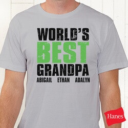 Personalized Gifts for Dad:Personalized Grandpa T-Shirts - Grand Dude