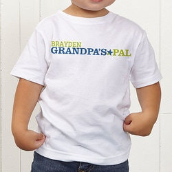 Personalized Gifts for Dad:Personalized Grandkids Toddler T-Shirt