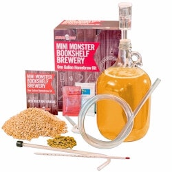 Birthday Gifts for Brother Under $50:Mini Monster 1 Gallon Beer Kit – American..