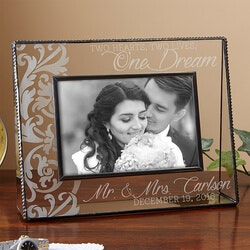 3rd Anniversary Gifts:Personalized Romantic Couple Picture Frames..