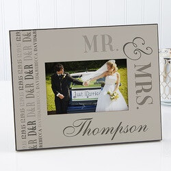 Gifts for Couples:Personalized Wedding Picture Frames - We..
