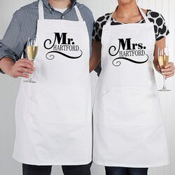 Personalized Wedding Aprons - Happy Couple