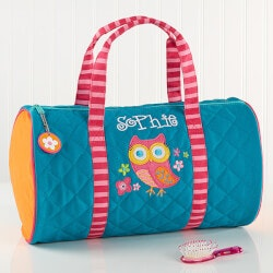 Birthday Gifts for 4 Year Old:Personalized Kids Duffel Bag - Lovable Owl
